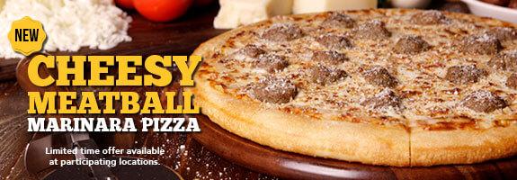 Cheesy Meatball Marinara Pizza